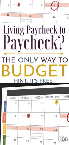 The ONLY Budgeting Program You Should Use if You Live Paycheck to Paycheck (Hint: It's Free!) – Finance tips, saving money, budgeting planner Money Saving Challenge, Money Saving Tips, Money Tips, Money Budget, Savings Challenge, Cash Money, Money Savers, Saving Ideas, Budgeting Finances
