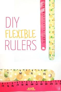 Make these bright and pretty DIY flexible rulers - a simple back to school craft for tweens and teens! a wonderful back to school craft for teens and tweens! Diy Back To School Supplies, Back To School Crafts, Crafts For Teens To Make, Diy For Kids, Back To School Diy For Teens, School Ideas, Diy Supplies, School Hacks, Back To School Highschool