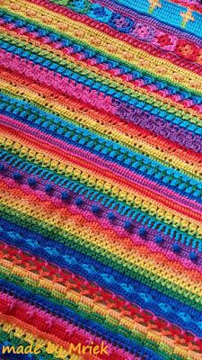 Regenboog babydeken - made by Mriek Crocheting, Blanket, Storage, Crochet, Blankets, Cover, Knits, Comforters, Lace Knitting
