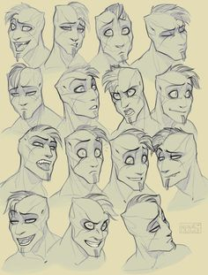 Drawing Reference Face Sketch Facial Expressions Ideas For 2019 Drawing Cartoon Faces, Cartoon Drawings Of People, Cartoon People, Drawing People, Cartoon Bodies, People To Draw, Drawing Face Shapes, Skin Drawing, Drawing Cartoons
