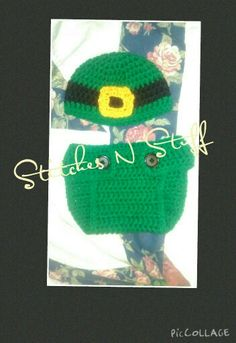 Crochet St. Pattys Hat and Diaper Cover Http://www.facebook.com/StitchesNStuffOR