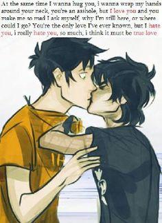 Nico finally gaining enough confidence to kiss Percy Percy Jackson Fan Art, Percy Jackson Head Canon, Percy Jackson Characters, Percy Jackson Ships, Percy Jackson Memes, Percy Jackson Fandom, Percabeth, Solangelo, Hades