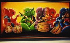ganesha paintings acrylic - Google Search