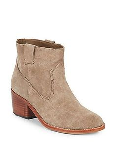 Dolce Vita Greggar Suede Ankle Boots - Taupe - Size