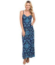 Tommy Bahama Indigo Flora Strapless Dress Coastline - 6pm.com
