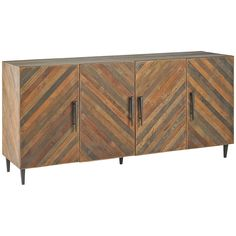 Currey and Company Constantine Natural Old Iron Credenza 3993