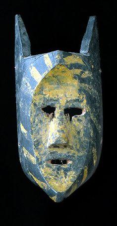 Tarahumara Shaman's mask  Chihuahua, Mexico  Santeria Mask  Mask Work