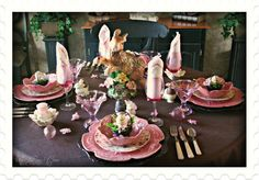 Bordallo pink cabbage table
