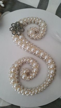 Pearl Decal Wood Letter S no doilies just by SouthTexasSparkle, $50.00