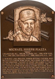 Mike Piazza - HOF Plaque