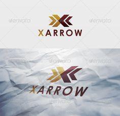 Logo Design Template, Logo Templates, Hacker Logo, Arrow Logo, Illustration Art Drawing, Wings Logo, Logo Branding, Logo Ad, Studio Logo