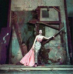 Model Dovima wearing Balenciaga, 1950. Photo by Richard Avedon