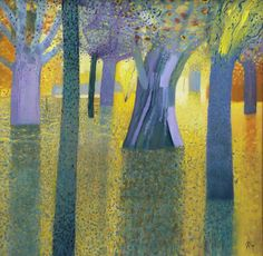 Malcolm Ashman - Park Painting. Abstract Art, Abstract Trees, Mark Making, Landscape Paintings, Modern Art, Illustration Art, Wood Carvings, Photography, Beautiful Things