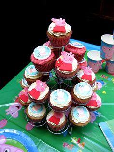 Cupcakes monísimos para una fiesta Peppa Pig / Cute cupcakes for a Peppa Pig party