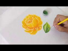 Pintura En Tela Como Pintar Gotas De Agua Con Pintura Acrilica Textil - YouTube Embroidery Suits Design, Diy, Color Rosa, Pictures, Painting, Beautiful, Youtube, Paint Flowers, Acrylic Paintings