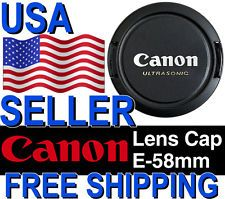 Canon Snap-on Pinch 58mm Front Lens Cap 50mm f/1.4 100mm f/2.8 Macro 85mm f/1.8