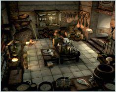 Alexandria Castle Kitchen FFIX JPG Final fantasy ix Inside art Fantasy castle