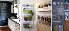 10 formas súper ingeniosas para aprovechar las paredes de tu cocina Ideas Hogar, Wine Rack, Liquor Cabinet, Storage, Projects, Diy, House, Furniture, Home Decor