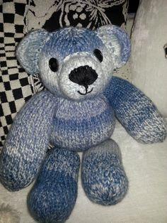 mITù, L'ORSETTO blu, in lana fatto a mano tuttovintage96@gmail.com
