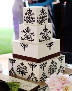 Fun wedding cake wedding