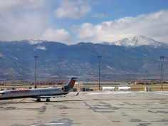 Colorado Springs Airport - with Pike's Peak We once lived not far from here.