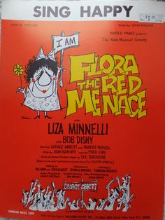 1965 Sing Happy Flora The Red Menace Liza Minnelli John Kander Fred Ebb Song Book Sheet Music by CindysCozyClutter on Etsy