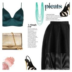 """""""Pleats"""" by clo-23 ❤ liked on Polyvore featuring Chicwish, Giuseppe Zanotti, Topshop and Michael Kors"""