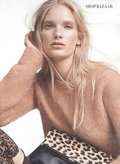 Ilse de Boer in Spot On - Harper's Bazaar UK September 2014 Knit Fashion, Love Fashion, Fashion Models, Harpers Bazaar, Img Models, Fall Winter Outfits, Editorial Fashion, How To Look Better, Make Up