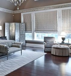 Window treatments add the next level of luxury Fall Home Decor, Autumn Home, Blinds For Windows, Windows And Doors, Honeycomb Shades, Interior Windows, Custom Window Treatments, Custom Built Homes, Home Technology