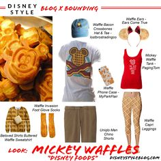 "Look: Mickey Waffles ""Disney Foods"" – Disney Bounding - disneybound disneybounding - disneystyleblog.com"