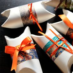 Toilet paper tube gift boxes.
