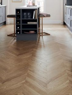Introduce mid century appeal to your home with our Professional oak chevron laminate flooring.