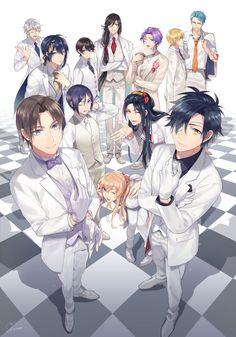 heshikiri_hasebe horikawa_kunihiro izumi-no-kami_kanesada jirou_tachi kasen_kanesada ko-man male midare_toushirou mikazuki_munechika shokudaikiri_mitsutada touken_ranbu tsurumaru_kuninaga yagen_toushirou yamabushi_kunihiro yamanbagiri_kunihiro Chibi, Touken Ranbu Characters, Kawaii, Hanamaru, Anime Lovers, Anime, Anime Drawings, Fan Art, Manga