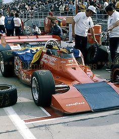Original 1973 slide. Indy 500. #14, A.J. Foyt, Gilmore Racing Team, Coyote/Foyt
