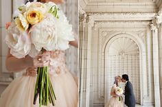 Urban Wedding at the Corson Building ⋆ Ruffled Long Stem Flowers, Pretty Flowers, Big Flowers, Our Wedding, Dream Wedding, Wedding Collage, Winter Wedding Flowers, Flower Shower, Platinum Wedding