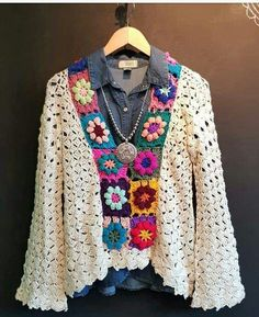 Crochet jacket with granny squares : Crochet jacket with grann Crochet jacket wi. Crochet jacket with granny squares : Crochet jacket with grann Crochet jacket wi… Crochet jacket Crochet Jacket Pattern, Poncho Knitting Patterns, Crochet Square Patterns, Crochet Poncho, Crochet Squares, Granny Squares, Crochet Granny, Top Pattern, Booties Crochet