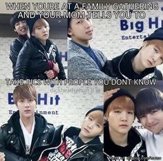 Lol suga's face is the same in every picture
