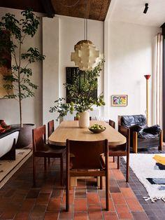 Dining Room Design, Dining Area, Sofas Vintage, Flack Studio, Modernisme, Melbourne House, Vogue Living, Room Decorations, Architectural Digest