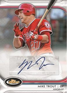 mike trout rookie card | ... Topps Finest Baseball Autograph Rookie Redemption # 3 is Mike Trout