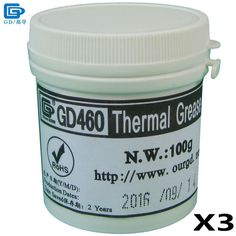 GD460 Thermal Conductive Paste Grease Silicone Plaster Heat Sink Compound 3 Pieces Silver