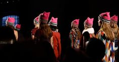 Gigi Hadid takes the pussyhat to the runway at Milan Fashion Week #Lifestyle #iNewsPhoto