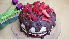 Choco-Vanilla-Berry Cake