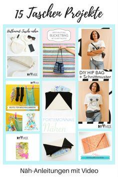 Nähen: angesagte Taschen & kleine Täschchen selbst machen. Diy Mode, Clutch, Diys, Diy Projects, Sewing, Inspiration, Clothes, Shopping, German