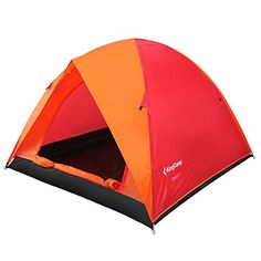 Introducing Kingcamp Family Tent  Waterproof Oxford Floor Durable Tear Resistant 3Person Camping Tent with Compression Bag. Great Product and follow us to get more updates!