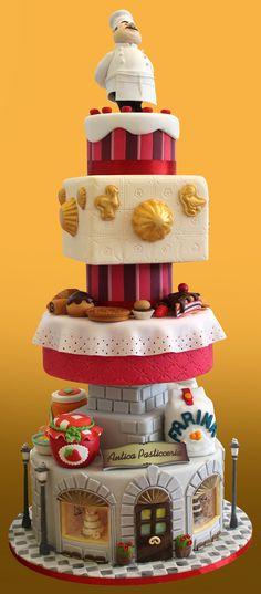 Inno alla pasticceria italiana! Medaglia d'argento al Campionato Italiano di Cake Design a Massa Carrara indotto dalla FIP (Federazione Italiana Pasticceria e Cioccolateria)