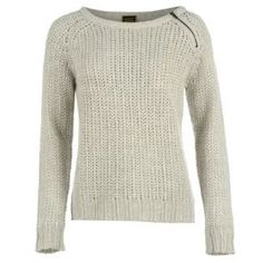 Golddigga Zip Crew Knitted Jumper #fashionjumper #Winterfashion #A/WKnit #ChunkyKnit http://www.lillywhites.com/ladies/golddigga-zip-crew-knitted-jumper-ladies-663407?colcode=66340725