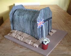 Model of a WWII Air Raid Shelter. My daughter made this model of a WWII Air Raid Shelter for a School Project....