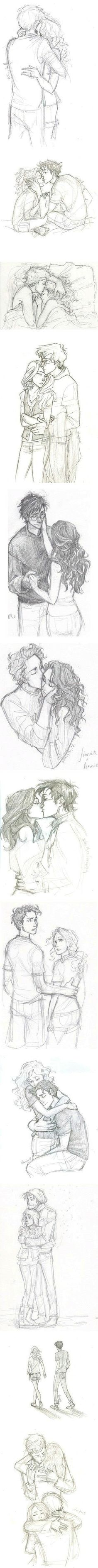I love all of the James and Lily pictures! They're the cutest couple in man/book-kind sketching ideas