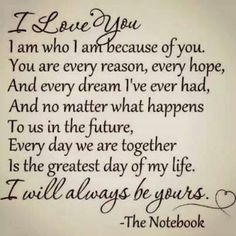 Awe... thanks for sending this to me Matt! I love you and I will always be yours too!
