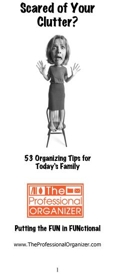 The Professional Organizer 10th Anniversary Birthday Bash - Give-away tips booklet for 24 hours! Wednesday May 2 (but the link is live now).   Happy Organizing!